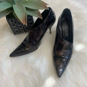 Donald J Pliner Chad marbled pointy heeled bootie
